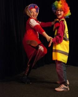 Dotty & Muddles do a dance